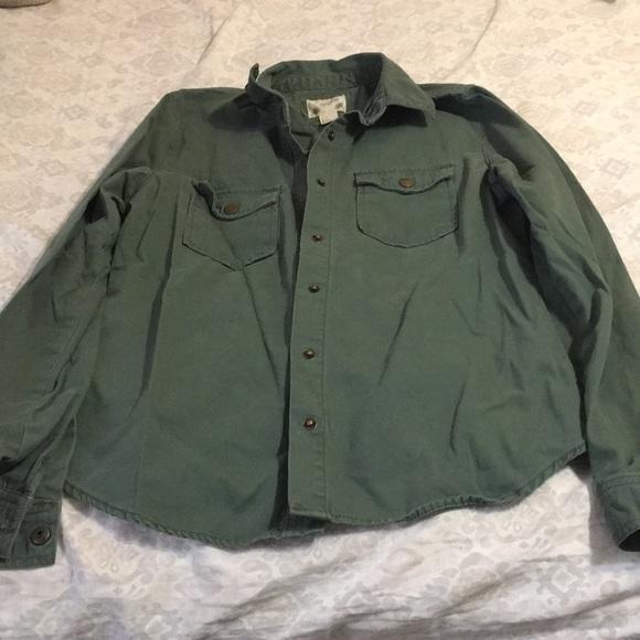 Forever 21 green t-shirt jacket.